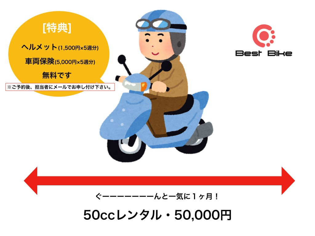 1か月専用レンタル 1#034(FC-000) - 【公式】レンタルバイクのベストBike® JR宇野駅前