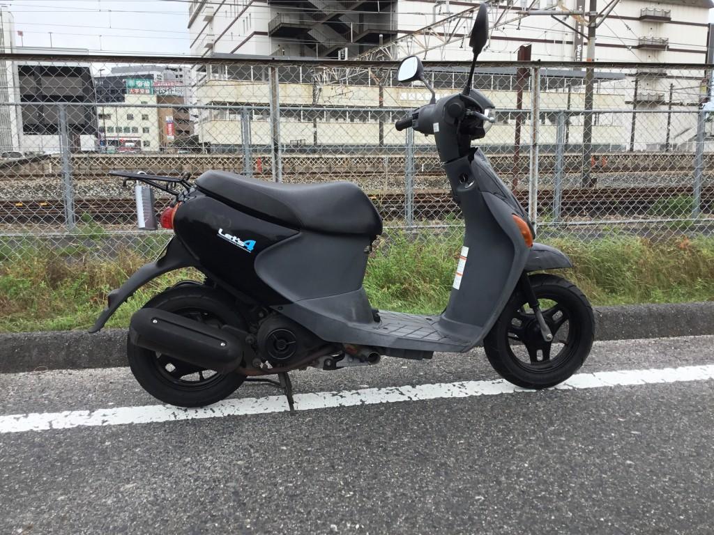 レッツ4 black(FC-000) - 【公式】レンタルバイクのベストBike® JR東岡山駅